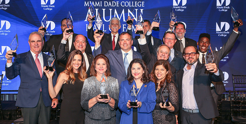 Photograph of Hall of Fame awards