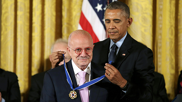 Dr. Eduardo J. Padrón receiving Medal of Freedom