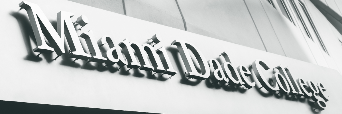Miami Dade College sign