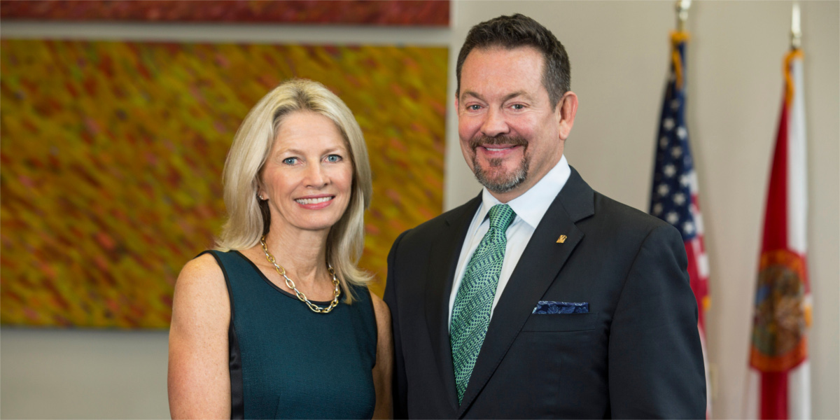 Portrait photo of Julie Grimes and Mark Cole