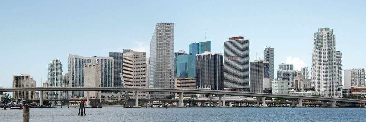 Photo of Downtown Miami skyline and bay