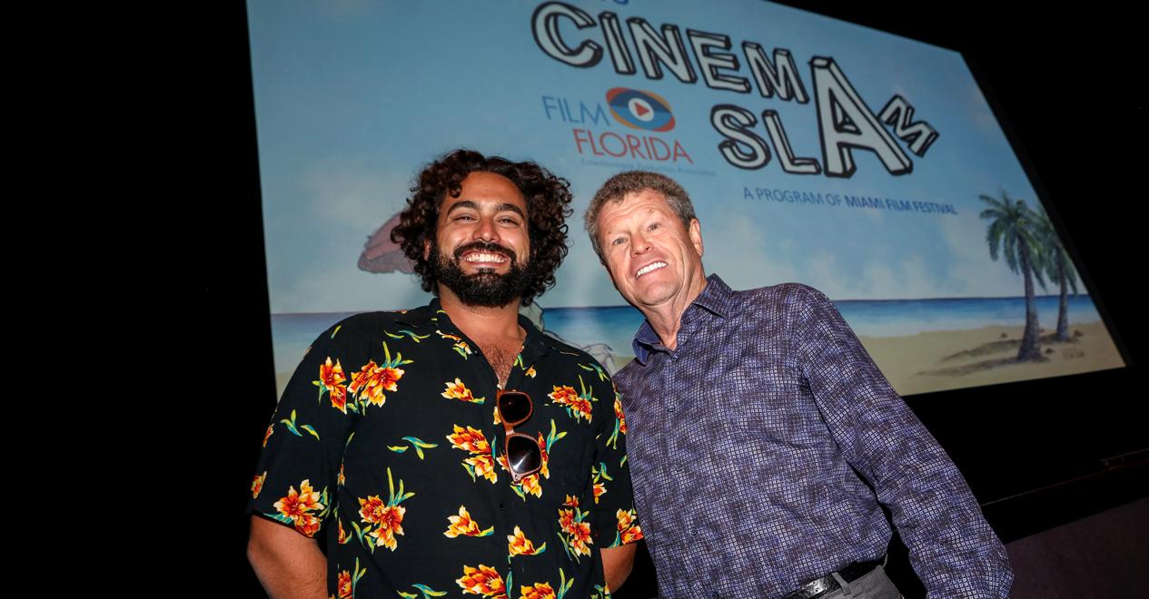Louis Wolfson & Robert Ramos at the 2018 CinemaSlam