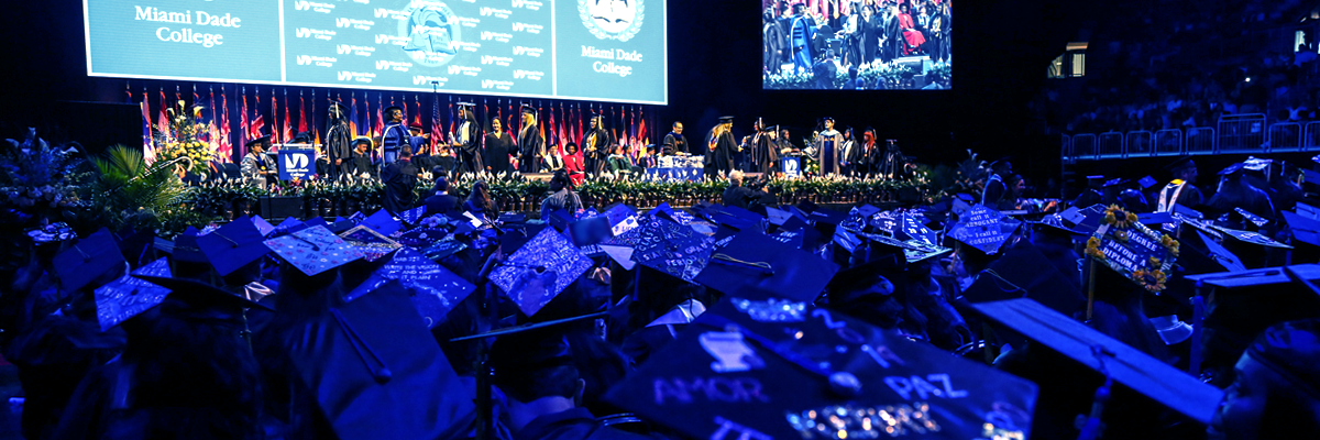 Photo of commencement caps