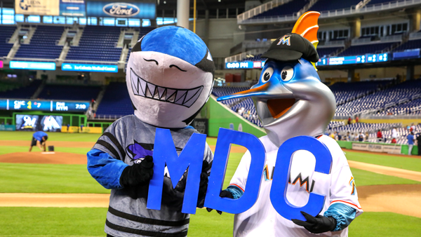 Finn and Billy at Marlins Park