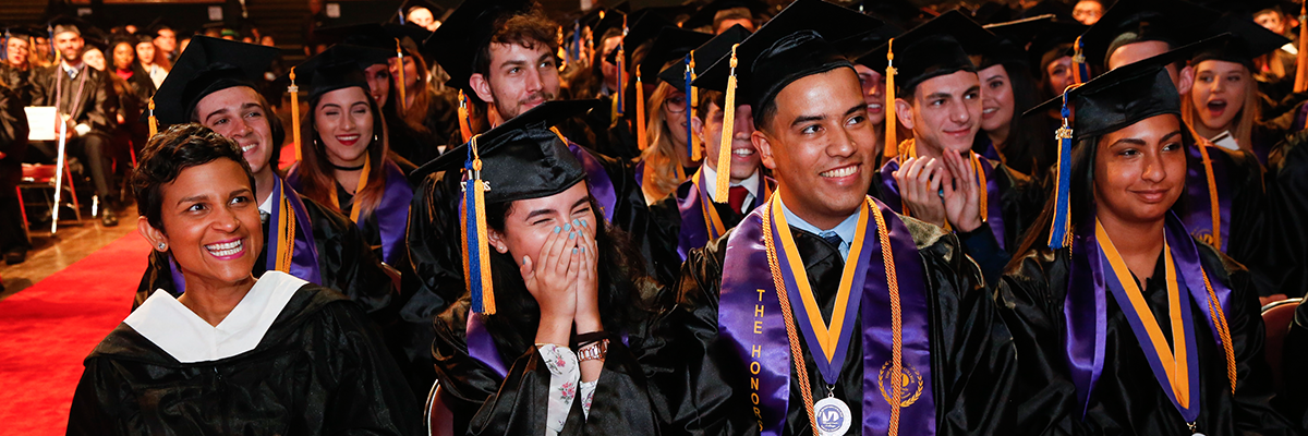 Student surprised with scholarship at graduation