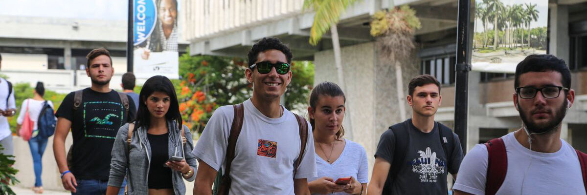 Students walking by MDC campus