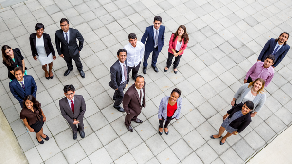 Group photo of professionals standing
