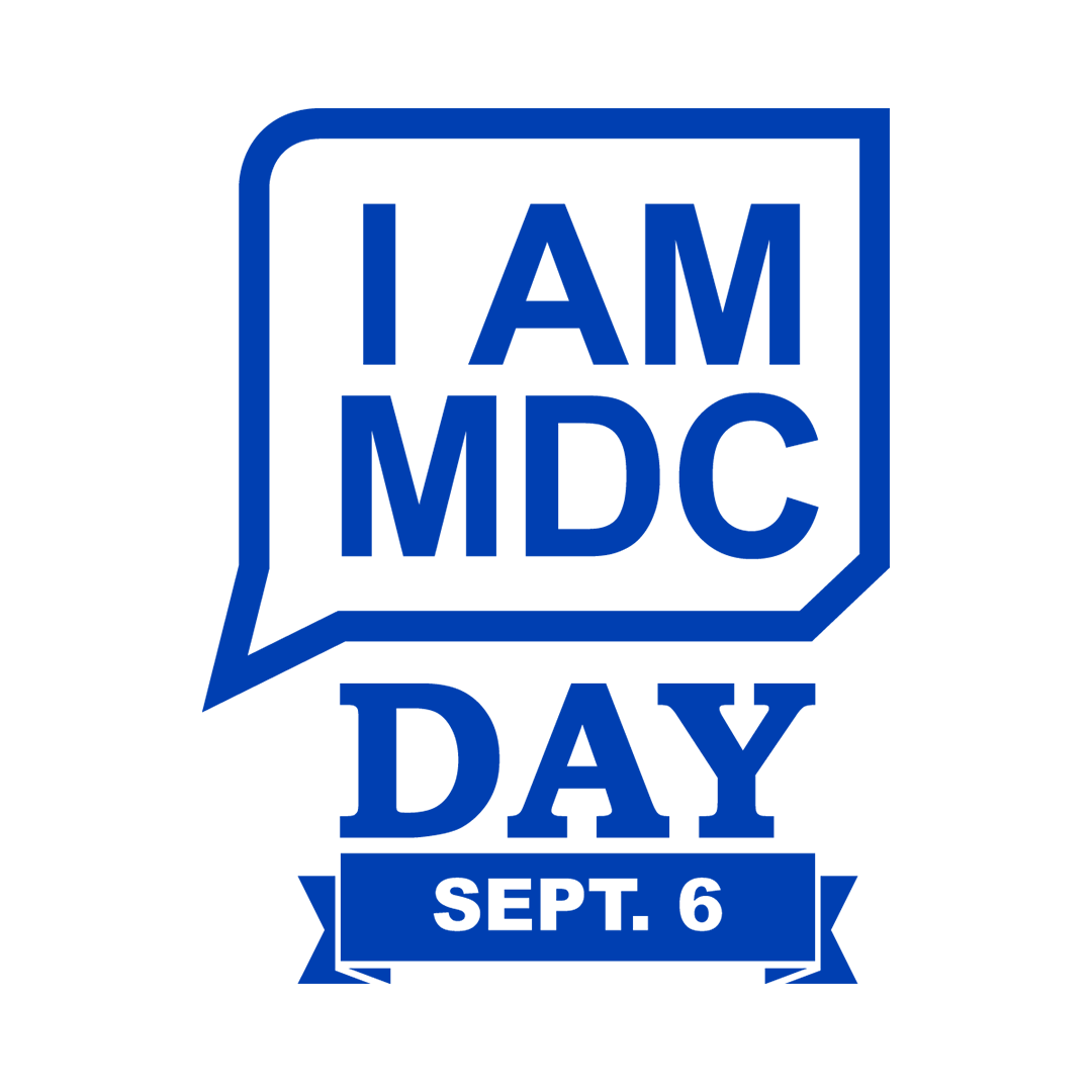 I AM MDC Day Logo White