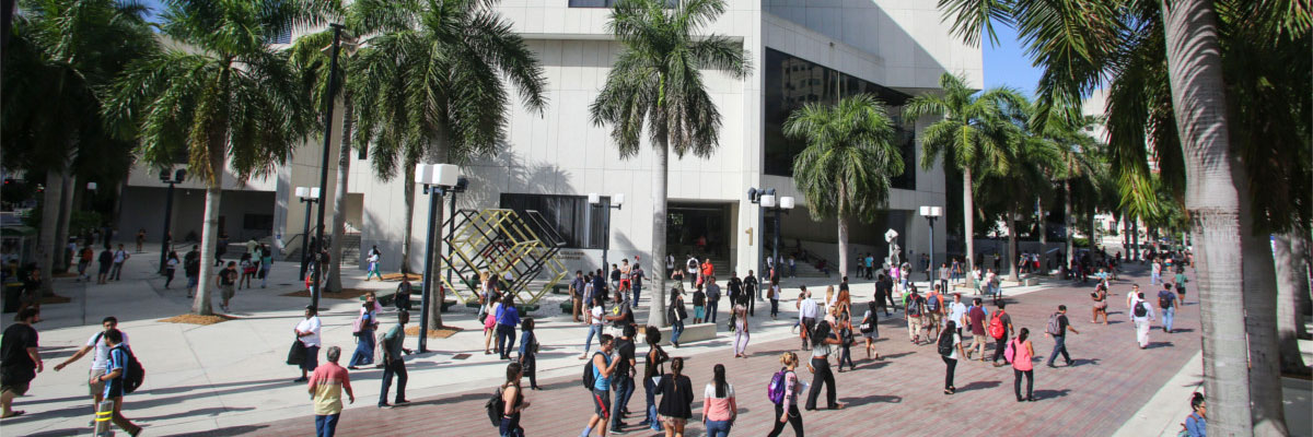 Panoramic view of Miami Dade College Wolfson Campus Building 1