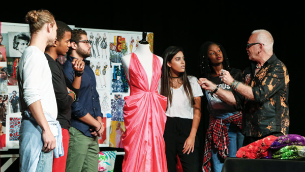 Students with faculty at Miami Fashion Institute