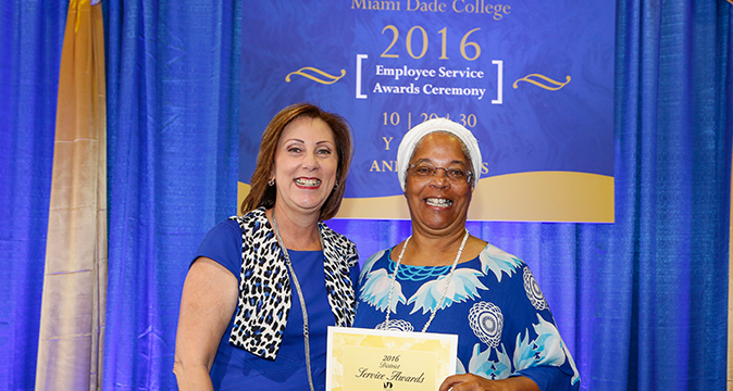 2016 Employee Service Award Ceremony with Bettie Thompson
