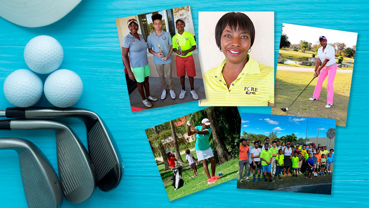 Golf theme collage with Paula Pearson Tucker photographs