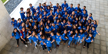 Miami Dade College group of students