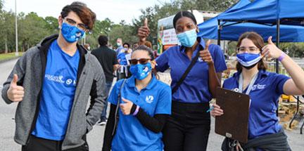 Group photo of MDC volunteers